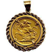 Zlatý Sovereign Král Jiří V. Přívěsek 1913