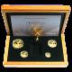 Mexiko Libertad Exkluzivní Zlatá Sada 30.výročí Mexické investiční mince 2011 Proof