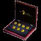 Sedm nových divů světa sada zlatých mincí 2011 Proof
