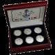 Plachetnice 20. století Exkluzivní sada stříbrných mincí 2008 Proof