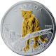 Stříbrná mince pozlacená Puma Canadian Wildlife 1 Oz 2012 Standard