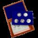 Sada stříbrných pamětních mincí roku 2010 v dřevěné krabičce Proof