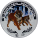Stříbrná mince kolorovaný Sibiřský Tygr Wildlife in Need 1 Oz 2012 Proof