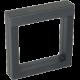 Luxusná transparentná etue - darčeková krabička 100 x 100 mm čierna