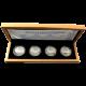 Sada 4 stříbrných medailí Šlechtický rod Vartenberků 2012 Proof