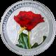 Postříbřená mince Růže 2011 Proof Benin