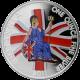 Stříbrná mince kolorovaná Britannia 1 Oz 2011 Proof