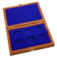 Dřevěná krabička 5 x Ag ČR 36 mm plus 1 x 45 mm