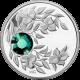 Strieborná minca Máj Narodeninový kryštál (Smaragd) 2012 Proof