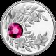 Stříbrná mince Leden Narozeninový krystal (Granát) 2012 Proof