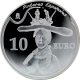 Stříbrná mince Salvador Dalí Bust of a woman 2009 Proof