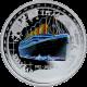 Stříbrná mince kolorovaný Titanic 1 Oz 100. výročí 2012 Niue Proof