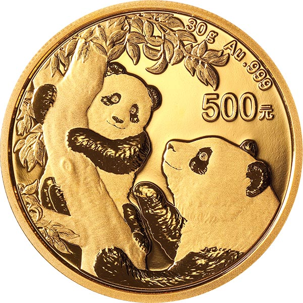 Zlatá investiční mince Panda 30g 2021