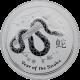 Stříbrná investiční mince Year of the Snake Rok Hada Lunární 1 Oz 2013