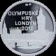 Stříbrná medaile Olympijské hry Londýn 2012 Proof