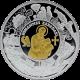 Stříbrná mince pozlacená Apoštol Jan 2011 Proof