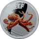 Stříbrná mince Chobotnice Australian Sea Life II. 2012 Proof