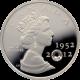 Stříbrná mince Diamantové výročí Elizabeth II. s krystalem 2012 Proof