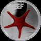 Stříbrná mince Hvězdice Australian Sea Life II. 2011 Proof