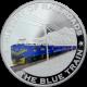 Stříbrná mince kolorovaný The Blue Train History of Railroads 2011 Proof