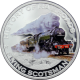 Stříbrná mince kolorovaný Flying Scotsman History of Railroads 2011 Proof