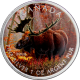 Stříbrná mince kolorovaný Los Canadian Wildlife 1 Oz 2012 Standard