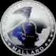 Stříbrná mince kolorovaný Mallard History of Railroads 2011 Proof