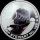 Stříbrná mince kolorovaný Sharp Stewart No.148 History of Railroads 2011 Proof