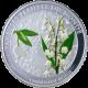Postříbřená mince Konvalinka 2011 Proof Benin