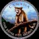 Stříbrná mince kolorovaná Puma Canadian Wildlife 1 Oz 2012 Standard