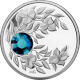 Stříbrná mince Prosinec Narozeninový krystal (Zirkon) 2012 Proof