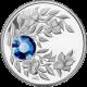 Stříbrná mince Září Narozeninový krystal (Safír) 2012 Proof