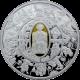 Stříbrná mince pozlacený Apoštol Petr 2010 Proof
