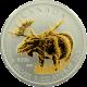 Stříbrná mince pozlacený Los Canadian Wildlife 1 Oz 2012 Štandard