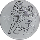 Stříbrná mince Samson a Lev 2 NIS Izrael Biblické umění 2009 Proof