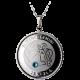 Stříbrný medailonek znamení zvěrokruhu Blíženci Proof