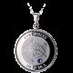 Stříbrný medailonek znamení zvěrokruhu Ryby Proof