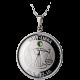 Stříbrný medailonek znamení zvěrokruhu Váhy Proof