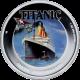Stříbrná mince kolorovaný Titanic 1 Oz 100. výročí 2012 Proof