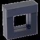 Luxusná transparentná etue - darčeková krabička 50 x 50 mm