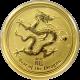 Zlatá investiční mince Year of the Dragon Rok Draka Lunární 1/10 Oz 2012