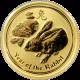 Zlatá investiční mince Year of the Rabbit Rok Králíka Lunární 1/10 Oz 2011