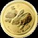 Zlatá investiční mince Year of the Rabbit Rok Králíka Lunární 1/4 Oz 2011
