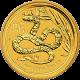 Zlatá investiční mince Year of the Snake Rok Hada Lunární 2 Oz 2013