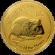 Zlatá investiční mince Year of the Mouse Rok Myši Lunární 1 Oz 2008