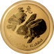 Zlatá investiční mince Year of the Rabbit Rok Králíka Lunární 1 Oz 2011