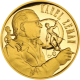 Zlatá půluncová medaile Karel Zeman 2010 Proof